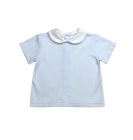 LullabySet Stewart Short Set, Blue Mini Gingham Pima