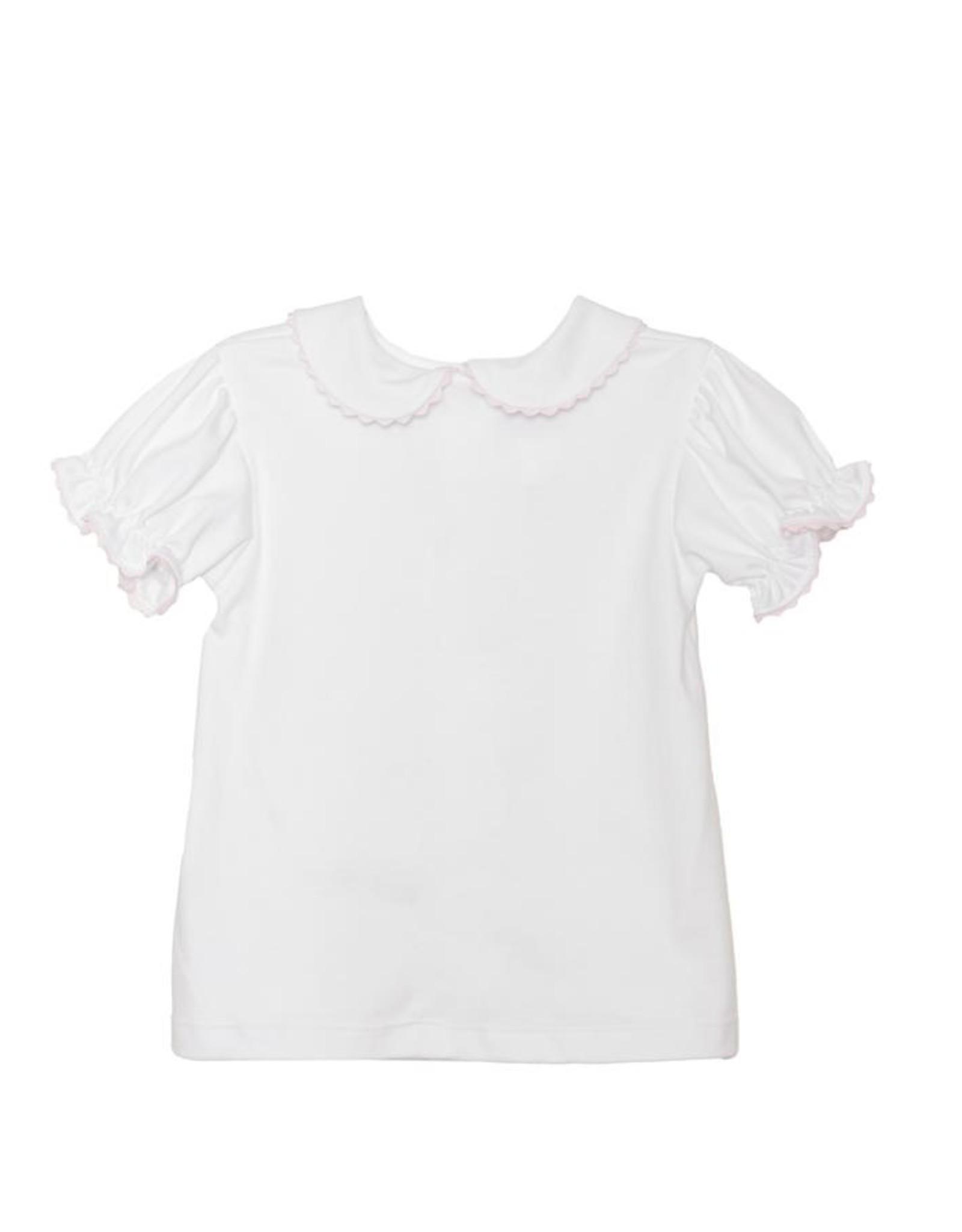 LullabySet Better Together Blouse, White/Pink