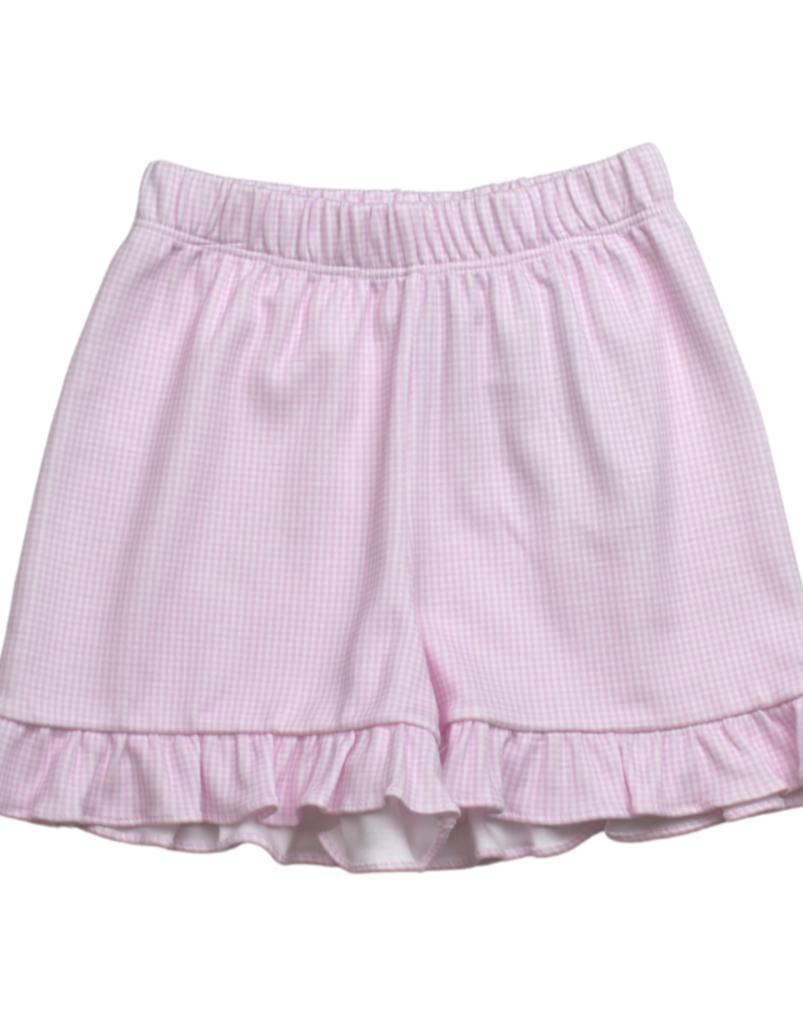 LullabySet Charlotte Shorts, Pink Mini Gingham Pima