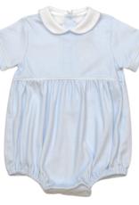 LullabySet Covington Bubble Blue Mini Gingham Pima