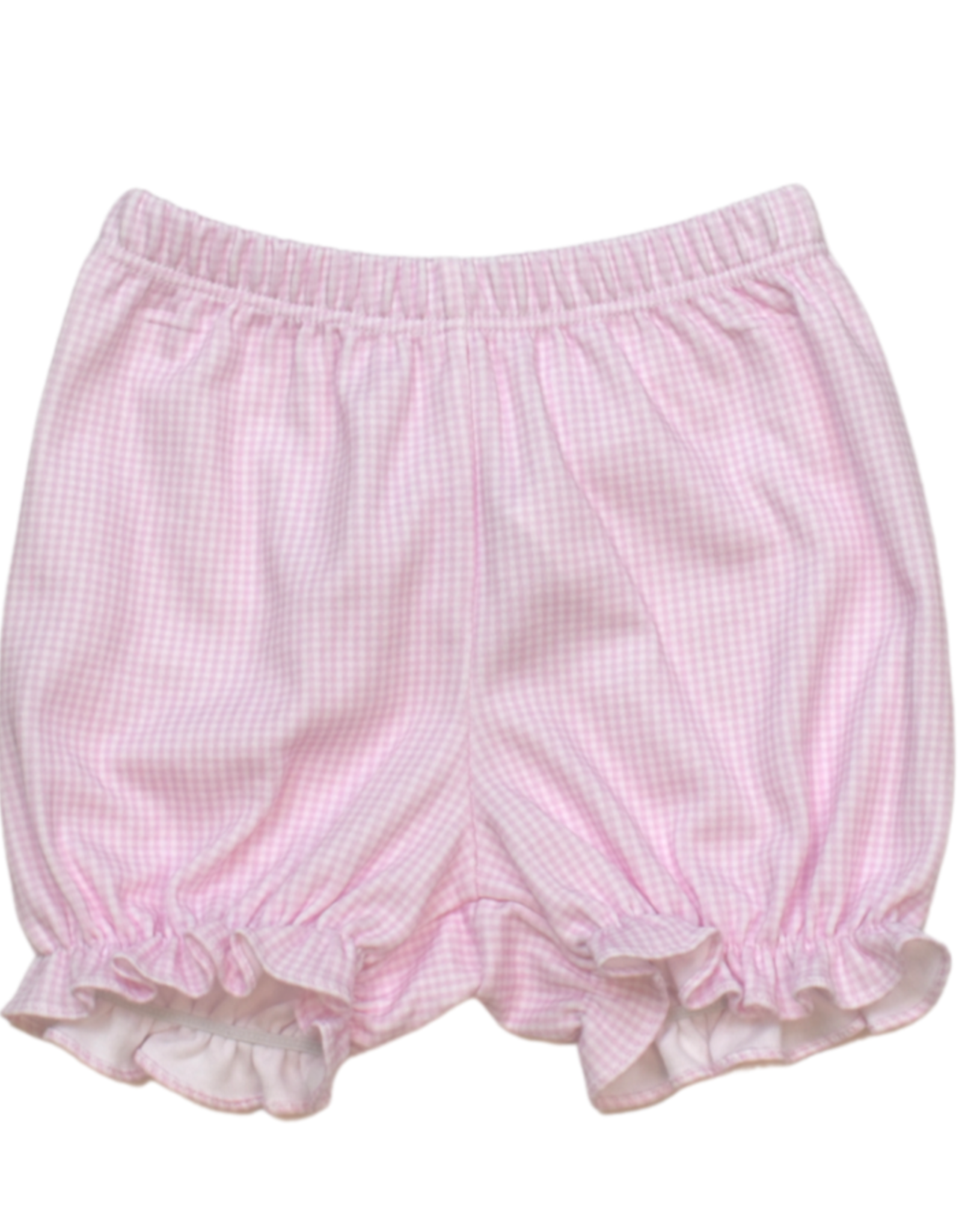 LullabySet Munro Ruffle Bloomer Set, Pink Mini Gingham Pima