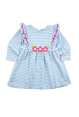 Florence Eiseman LS Stripe Knit Dress with Flowers