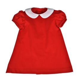 Color Works Red Corduroy Float Dress