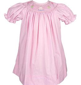 Petit Ami Pink Smocked Bishop Birthday Dress