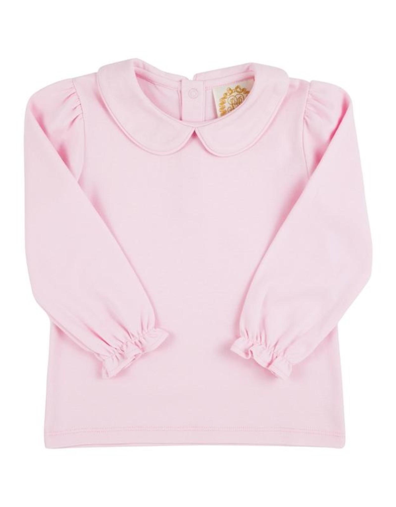The Beaufort Bonnet Company Maude's Peter Pan Collar Shirt LS Pima, Palm Beach Pink