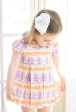James and Lottie Halloween Penny Pleat Dress w/ Pumpkins and Cats