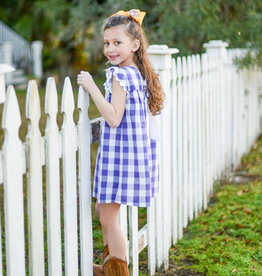 James and Lottie Mary Dress in Purple Check