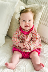 James and Lottie Sally Knit Bloomer Set in Pink Floral
