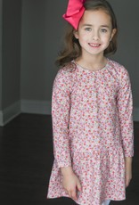 James and Lottie Loren Pink Floral Knit Dress