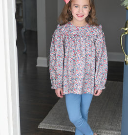 James and Lottie Cecilia Legging Set in Navy Floral