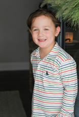 James and Lottie Boys Stripe Knit Polo