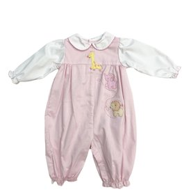 Petit Ami Pink Longall with Zoo Animals