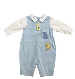 Petit Ami Blue Longall with Zoo Animals