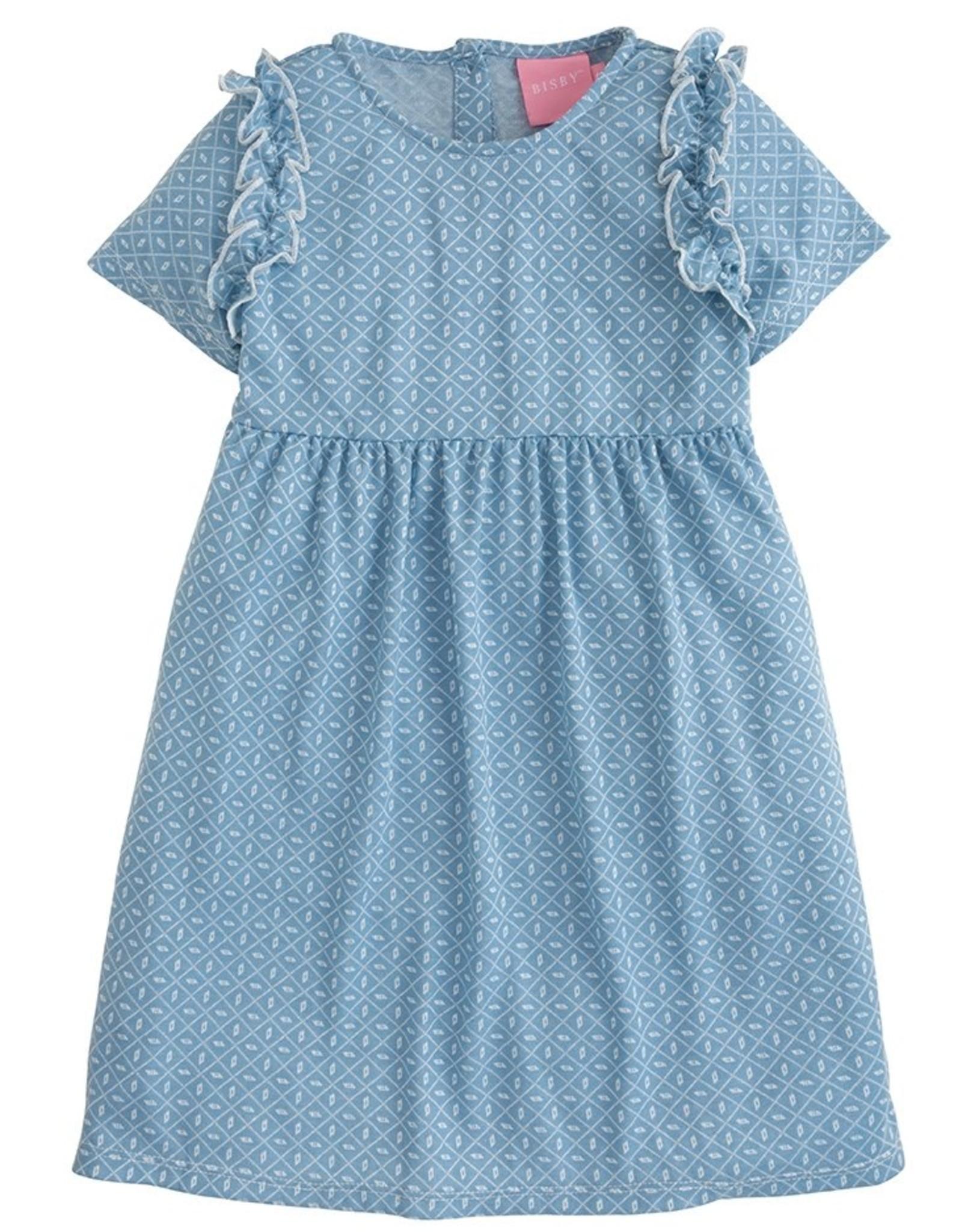 Bisby Helen Dress, Bandana Blue