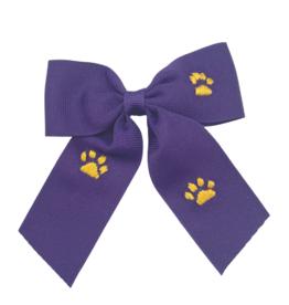 Winn And William Medium Dark Purple Tiger Paws Bow