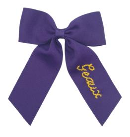 Winn And William Medium Dark Purple GEAUX Bow