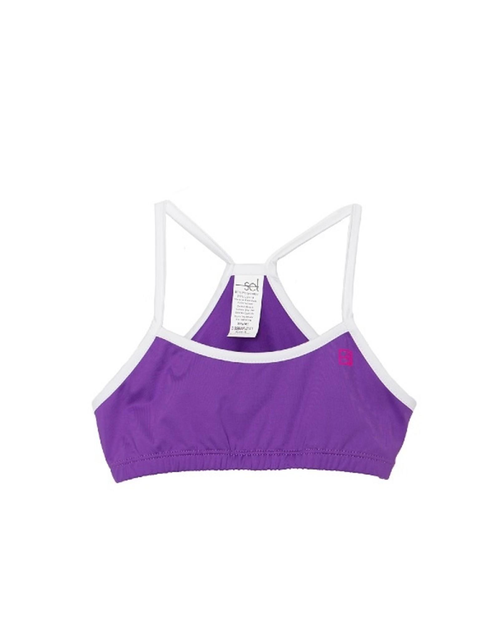 SET Briana Sports Bra - Purple/White