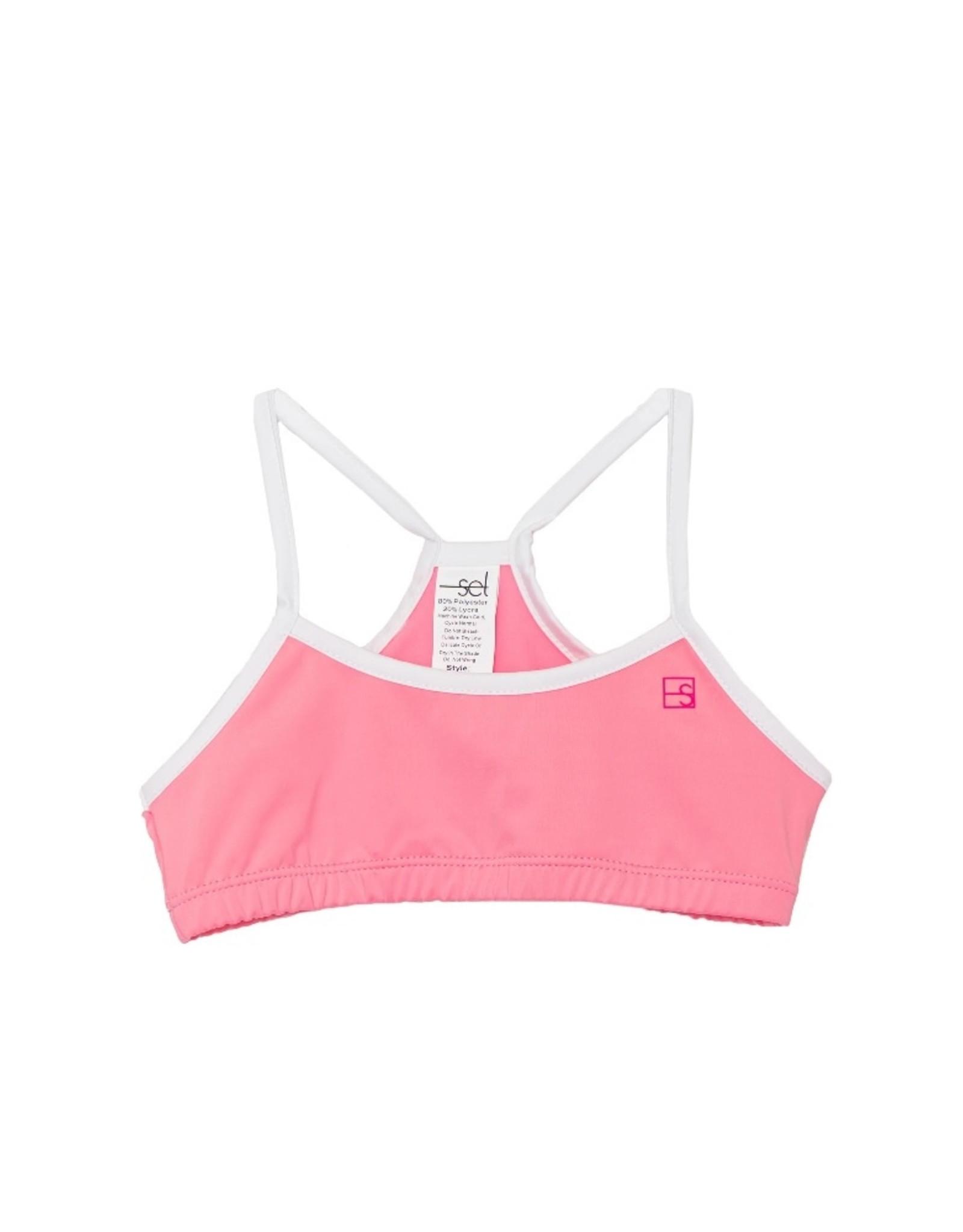 SET Briana Sports Bra - Pink/White