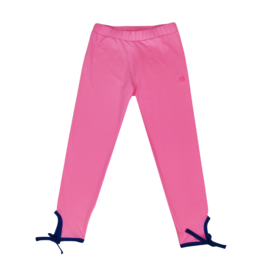 SET Avery Legging - Pink with Navy Ankle Ties