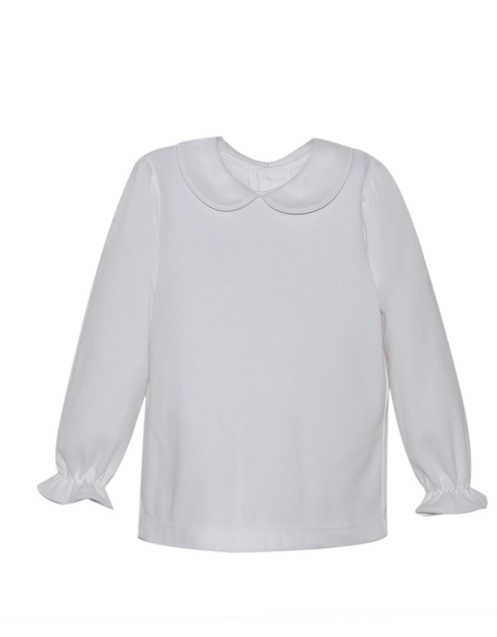 Remember Nguyen Girls Knit White Long Sleeve Shirt