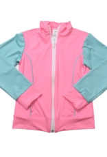 SET Juliet Jacket, Pink with Turquoise Sleeves