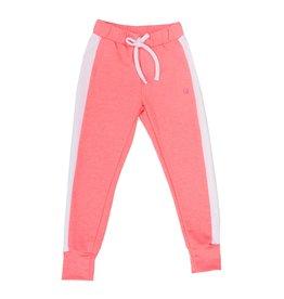 SET Jemma Jogger, Pink Knit/ White Sides