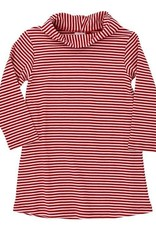 The Bailey Boys Cowl Neck Dress, Red Stripe