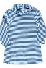 The Bailey Boys Cowl Neck Dress, Light Blue Stripe