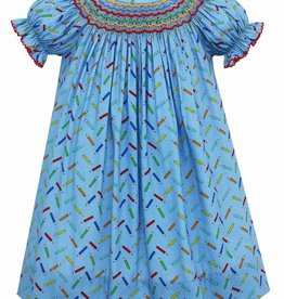 Claire and Charlie Color Pencil Print Bishop Dress