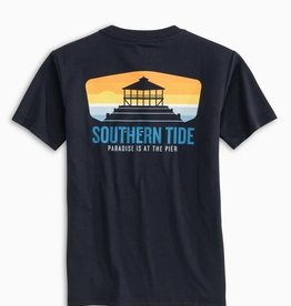 Southern Tide Paradise Is The Pier Tee True Navy