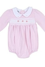Magnolia Baby Layla And Lennox L/S Smocked Collar Bubble Pink