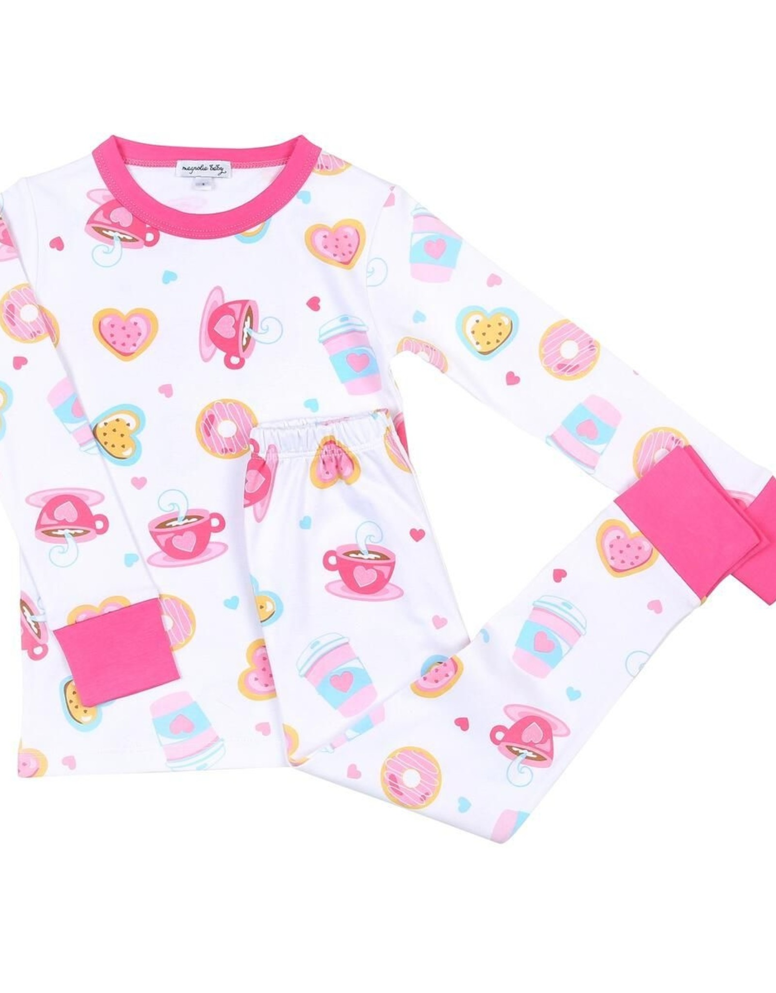 Magnolia Baby Cookies And Cocoa Long Pajama Pink