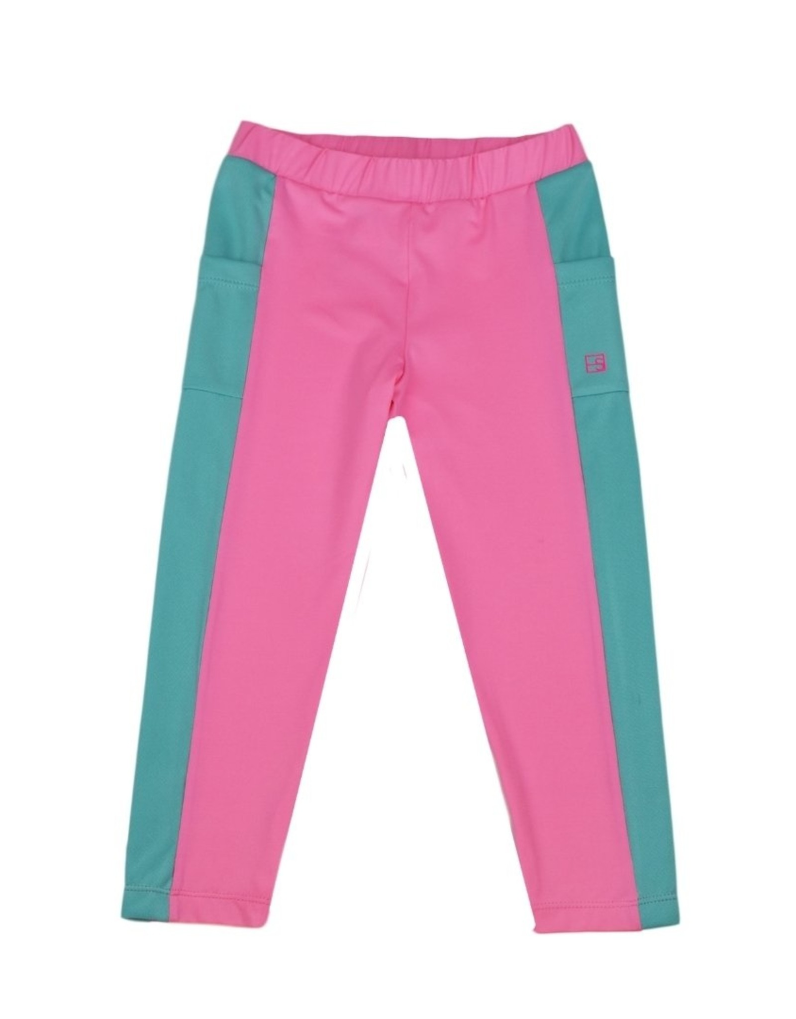 SET Lila Legging - Pink w/ Turquoise Sides