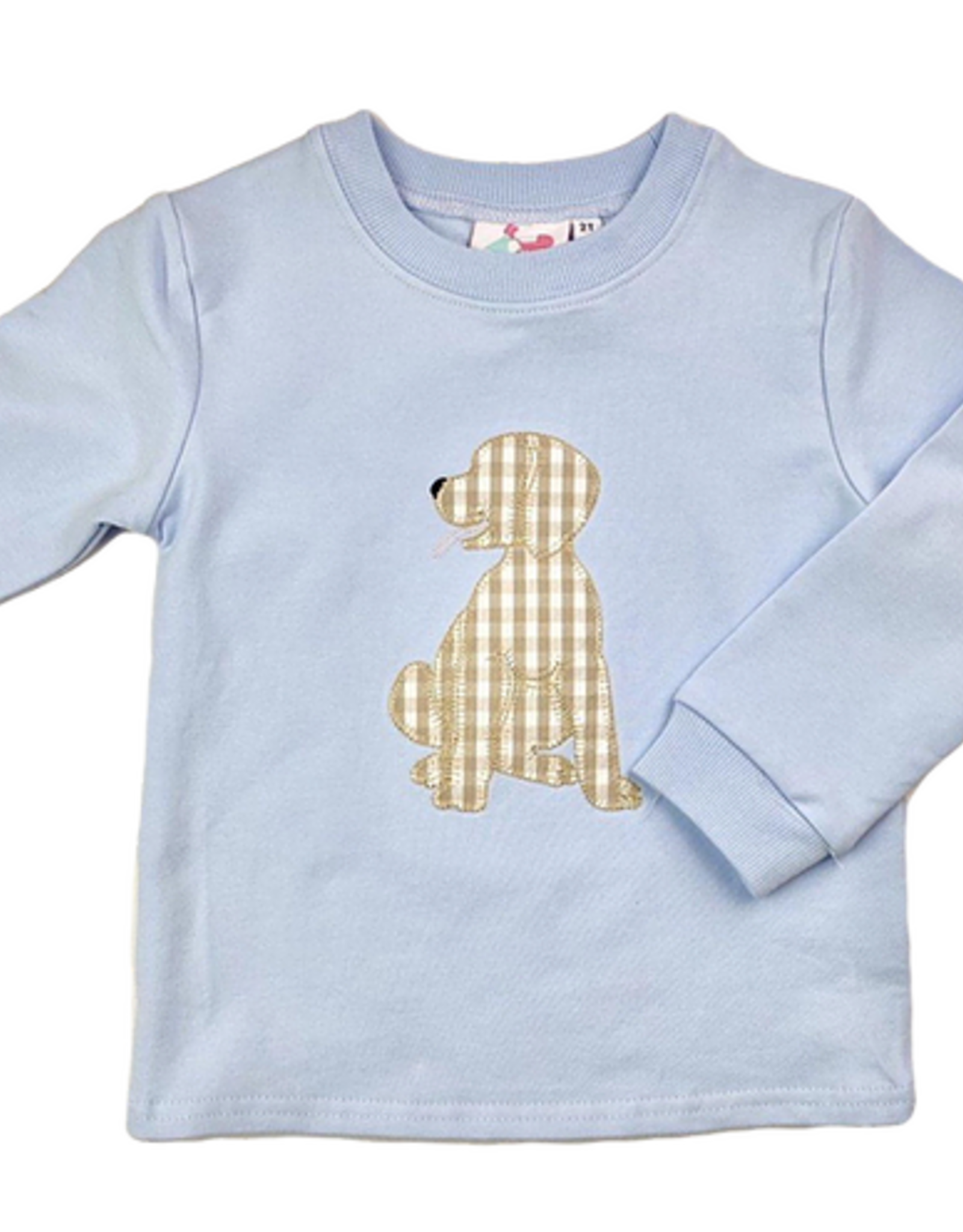 Little Louanne Gingham Dog Sweatshirt Boy