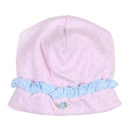 Magnolia Baby Celeste's Classics Emb Ruffle Hat, Pink