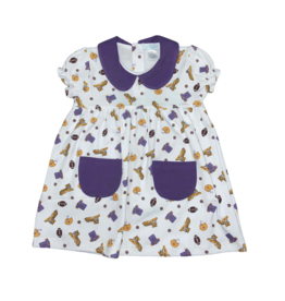 Lulu Bebe LLC LSU Print Knit Girls Dress