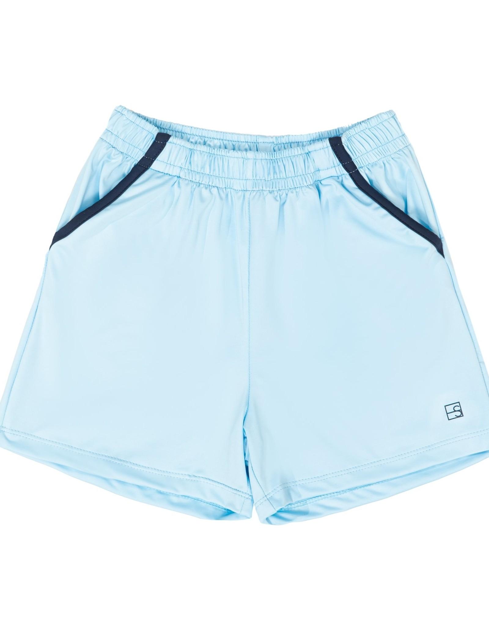 SET Nathan Short - Light Blue w/ Navy Welting