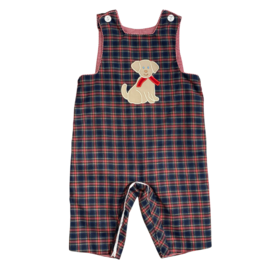 Claire and Charlie Dog Long Jon Jon Reversible To Red Check