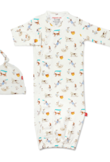 Magnetic Me Howlarious Organic Cotton Magnetic Sack Gown & Hat