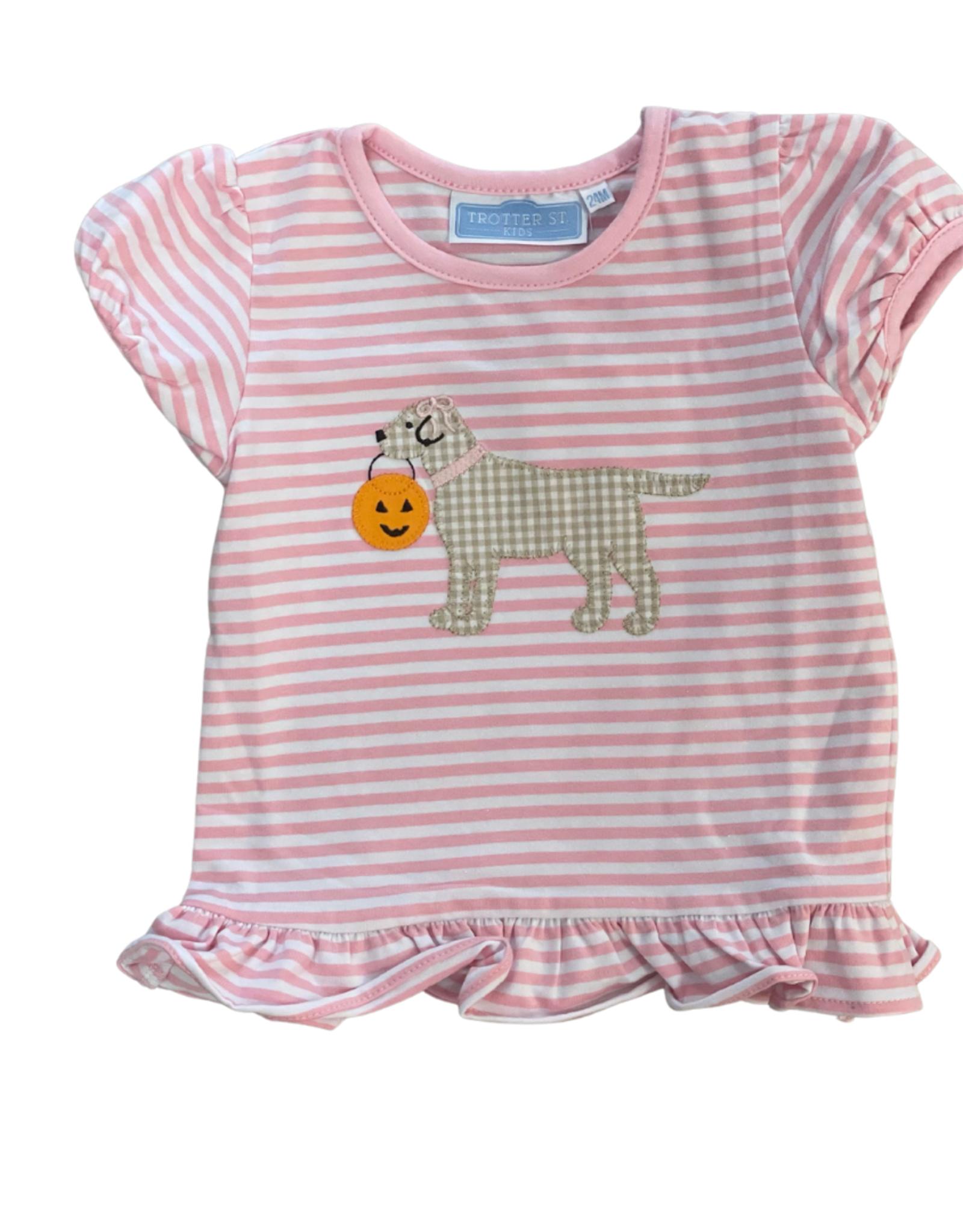 Trotter Street Kids Halloween Puppy S/S Shirt Girl