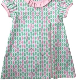 James and Lottie Payton Dress with Gingerbread Print