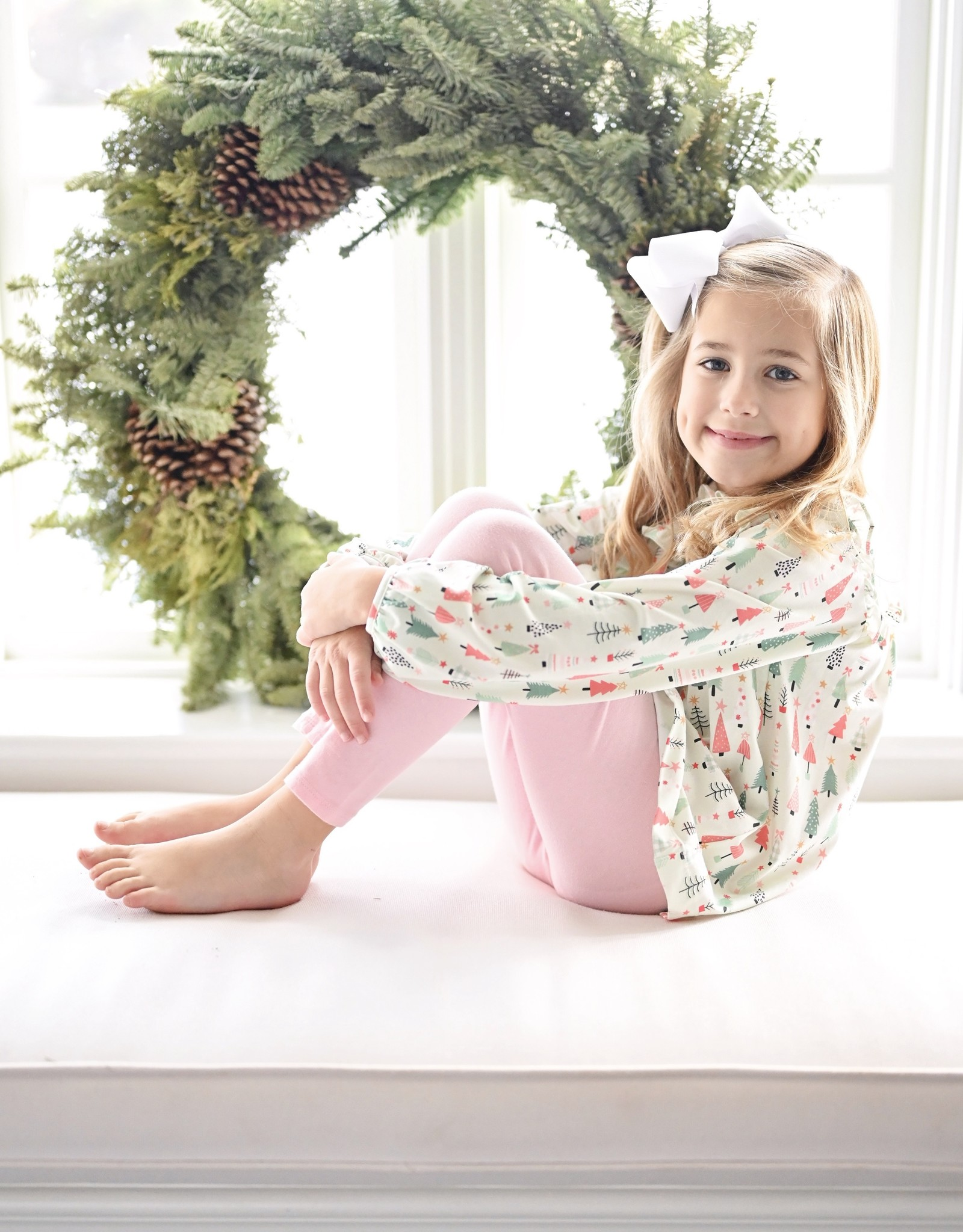 James and Lottie Janey Legging Set with Christmas Trees