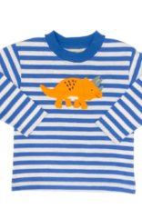 Luigi Long Sleeve Stripe Tee Royal/White Triceratops
