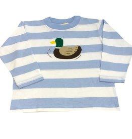 Luigi Long Sleeve Tee Sky/White Stipe Mallard