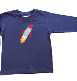 Luigi Long Sleeve Tee Rocket Ship Dark Royal