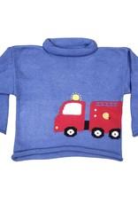 Luigi Fire Truck Roll Neck Sweater Chambray
