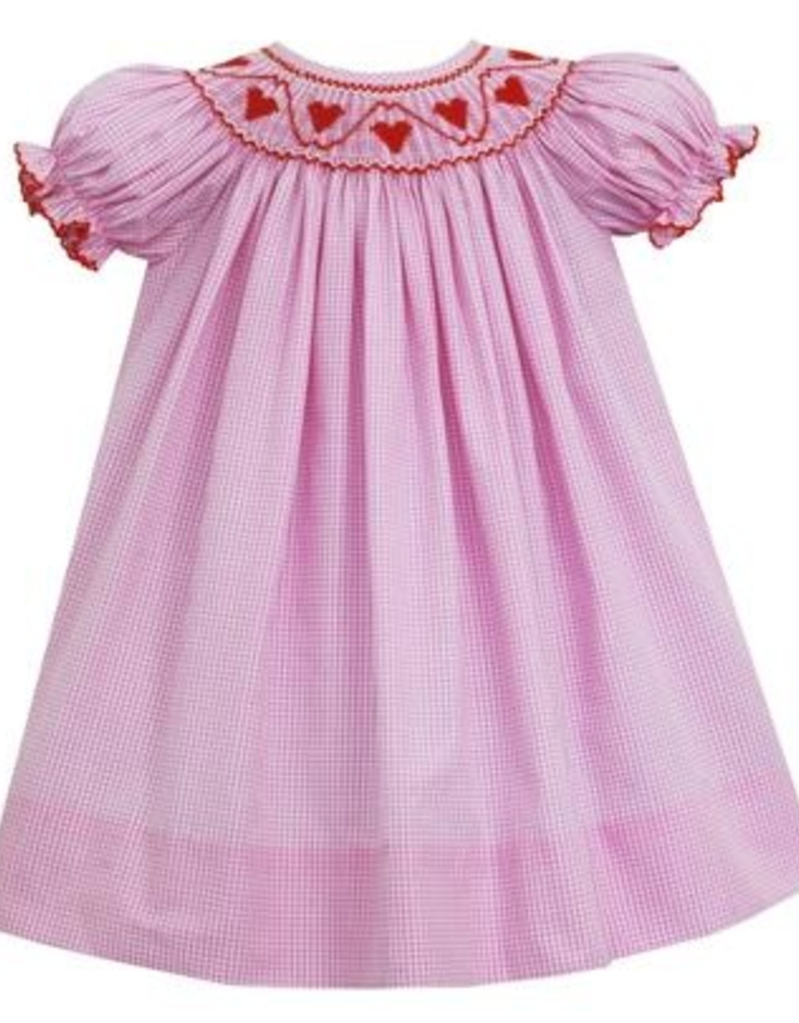 Petit Bebe Hearts Bishop Pink Mini Check