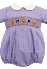 Petit Bebe Halloween Boy's Bubble Purple Mini Check