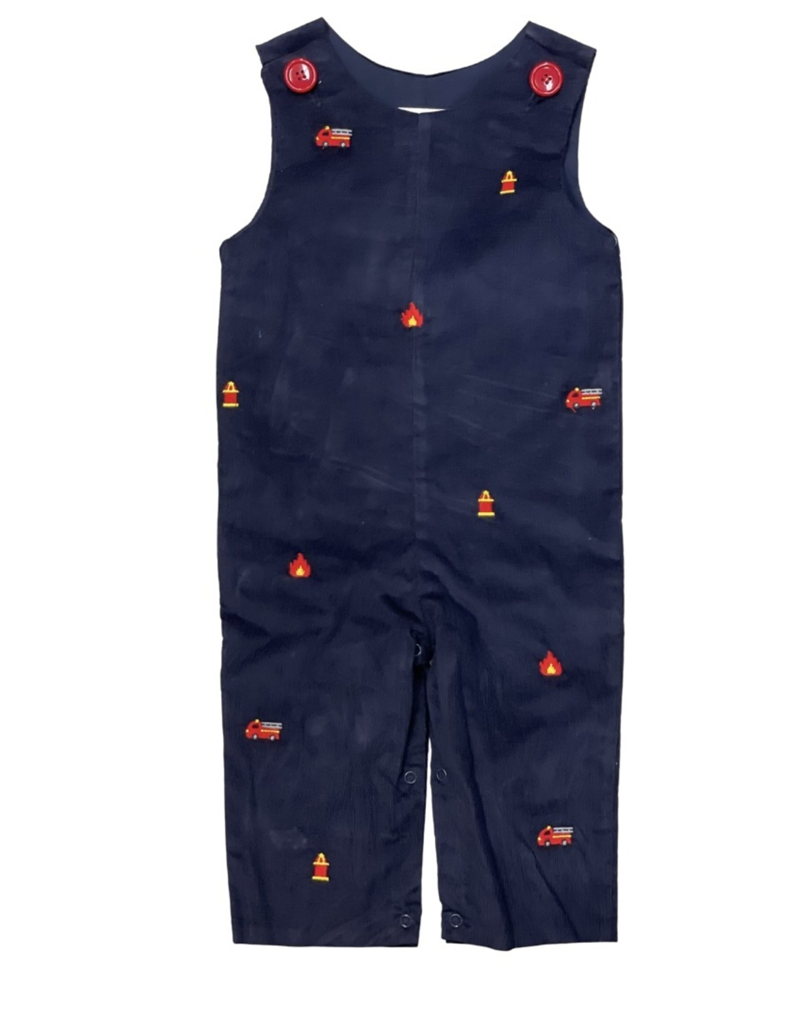 Zuccini Firetruck Embroidery Longall Navy Cord