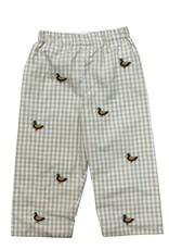 Zuccini Mallard Pant Woven Khaki Check